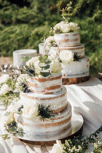 Taart, versiering, bruiloft