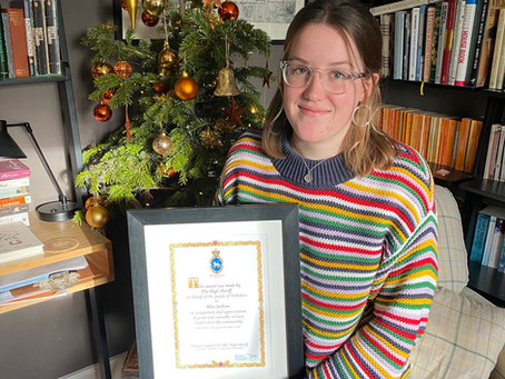 TEENAGER RECOGNISED FOR COVID SUPPORT WORK