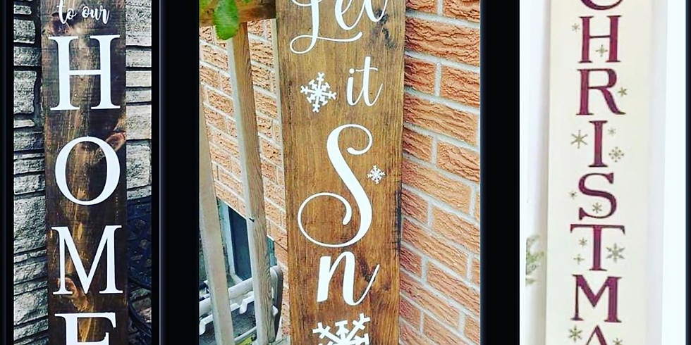 Rustic Reversible Porch sign