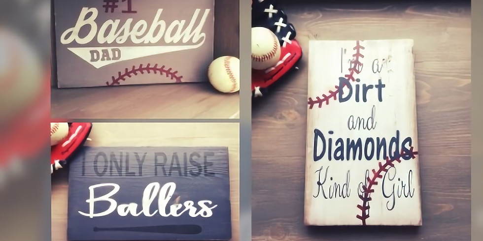 Baseball Sign Fundraising Workshop