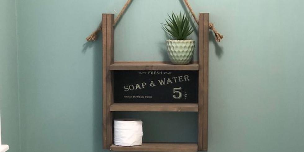Rustic Bathroom Shelf