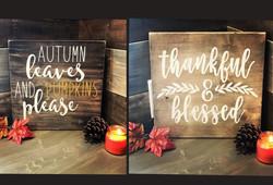 Reversible Autumn/ Thankful Sign