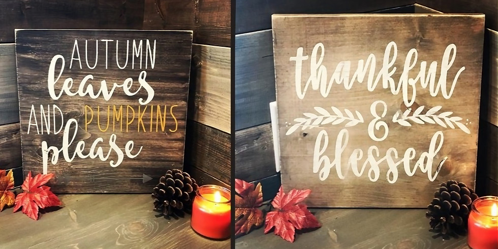 Reversible Rustic Autumn Sign