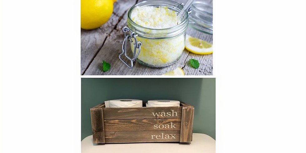 Custom Bath Salts and Rustic Crate Workshop