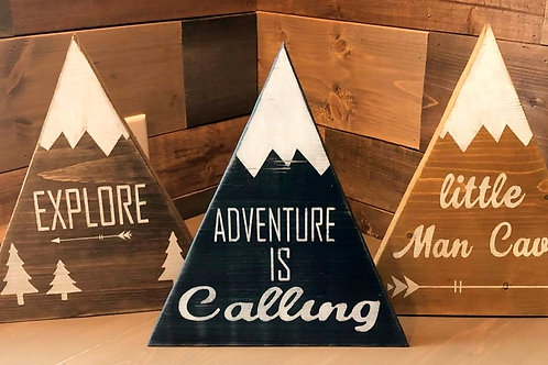 Rustic Mountain Sign Kit