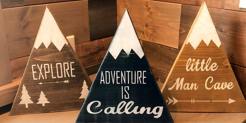 Rustic Mountain Signs Zoom Class