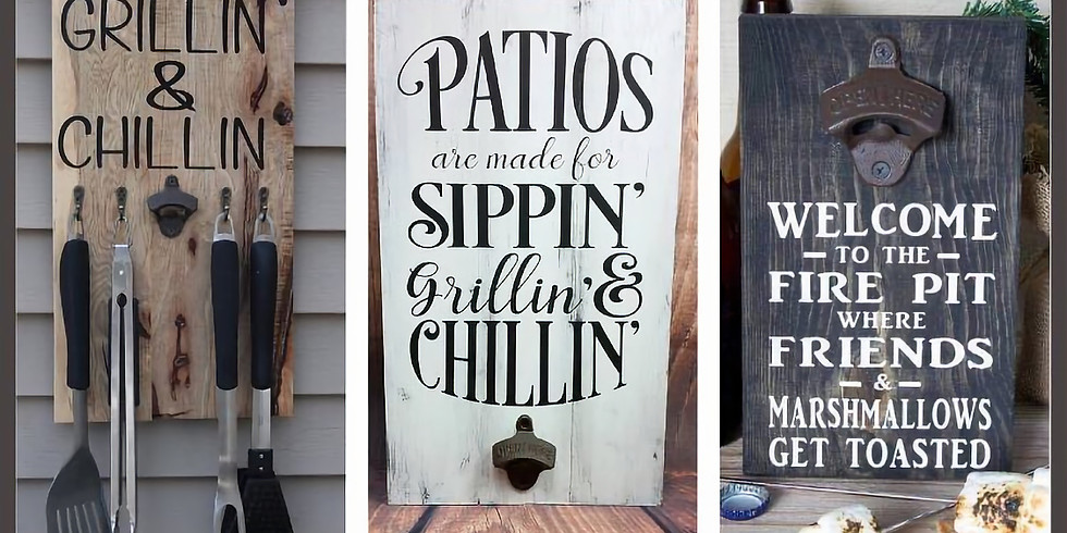 Patio Sign Party