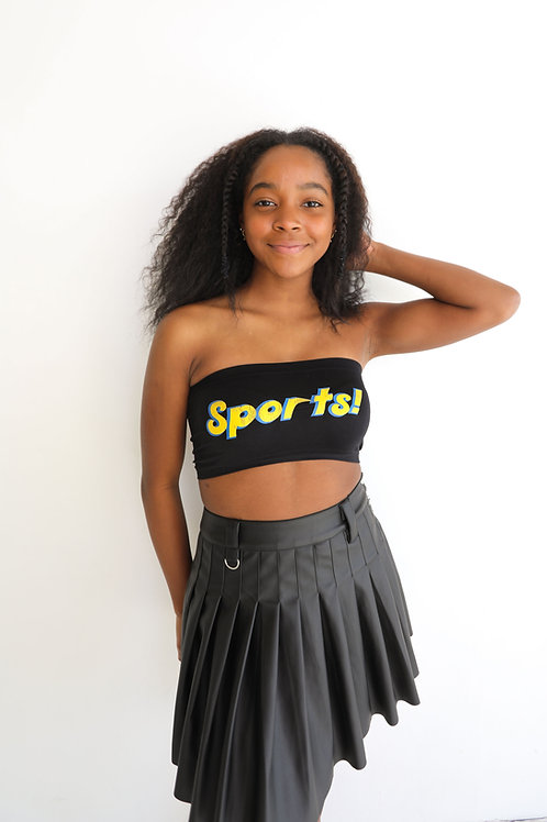 Sports Bandeau Blue and Gold
