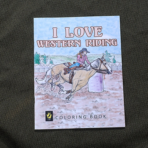 I Love Western Riding, Coloring Book