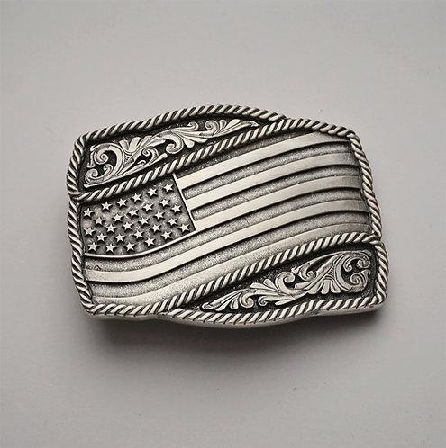 American Flag Buckle
