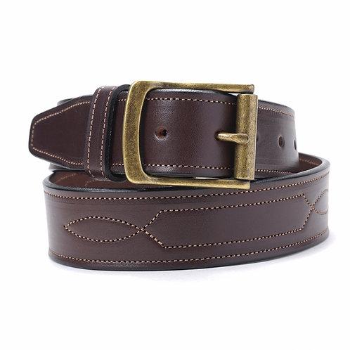 Wide Stiched Belt Brown or Black
