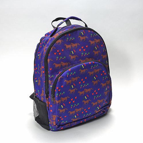 kids back pack w/horse pattern