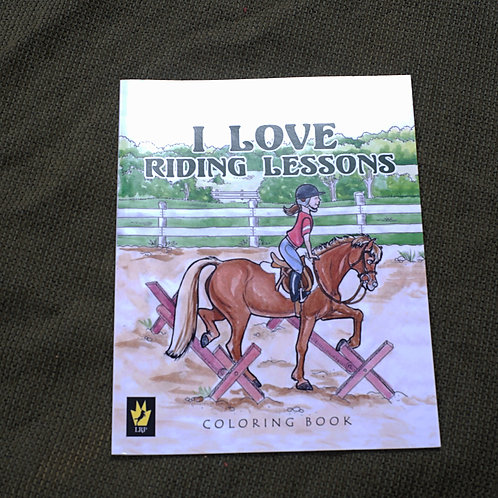 I Love Riding Lessons, Coloring Book