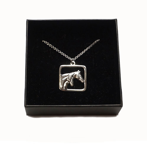Horse Necklace , square