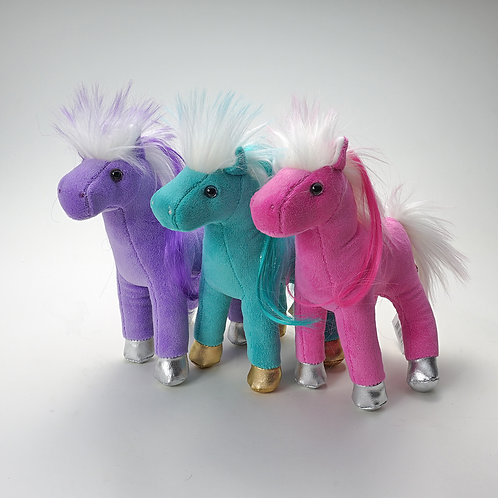 Purple Horse, Aqua Horse, Pink Horse, Each