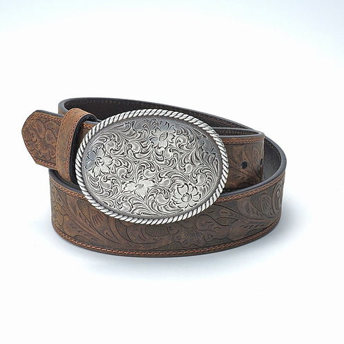 Nacona Belt Brown w/ oval buckle