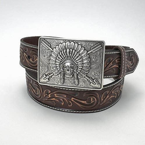 Belt w/ skull & arrows