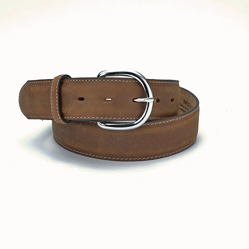 Justin Belt- Brown Smooth w/Chrome Buckle