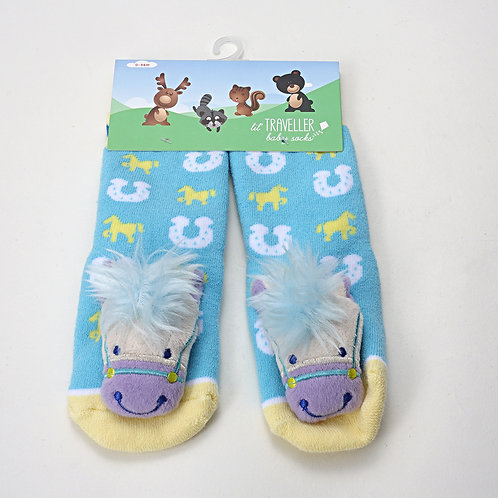 Horse Baby Socks Blue