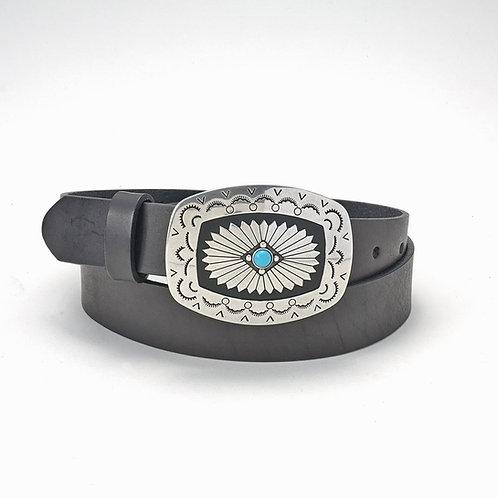Tony Lama Ladies Belt w/buckle black