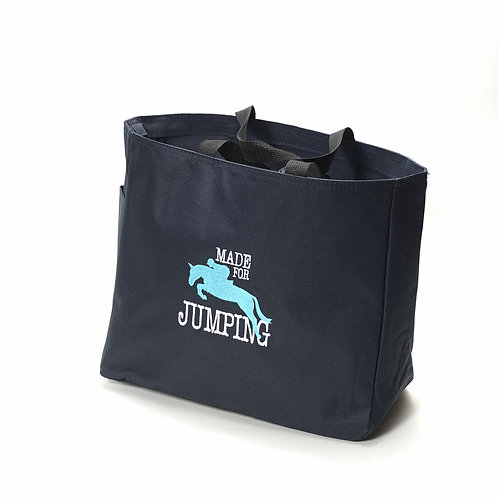 "Canvas Carry Bag , Black, ""Made for Jumping"""