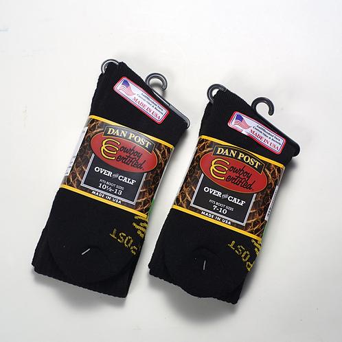 1 Pair, Mens boot socks , Black