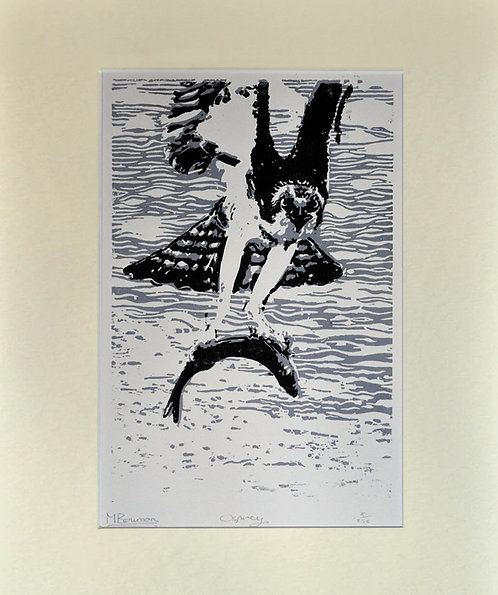 """Osprey"" Lino Print Limited Edition"