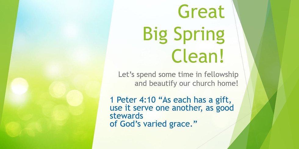 5/22 The Big Spring Clean: Deep Clean