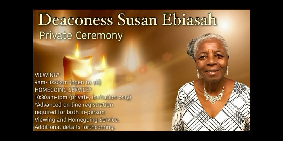 Deaconess Susan Ebiasah, Celebration of Life, March 12, 2021