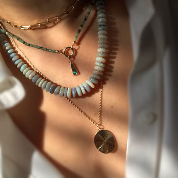 High end beaded necklace