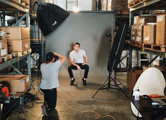 On Set with Photographer Will Wu