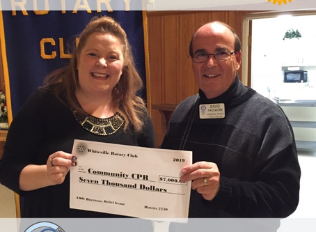 Community CPR Receives Grant from Rotary International