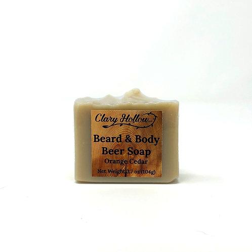 Beard & Body Beer Soap - Orange Cedar