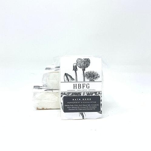 Natural Bath Bomb - Peppermint & Eucalyptus
