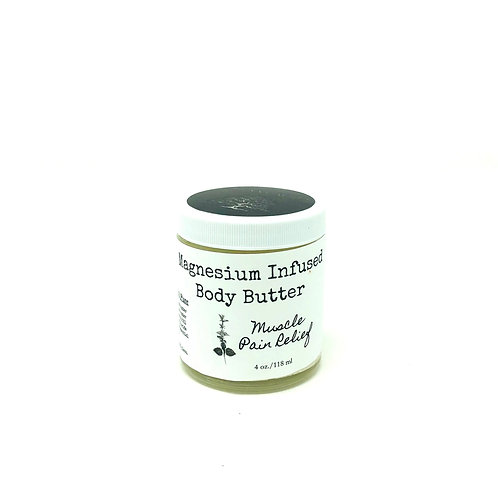 Magnesium Infused Body Butter Muscle Pain Relief