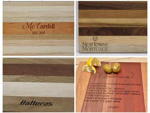 "5/8"" x 10"" x 14"" Traditional Cutting Boards"