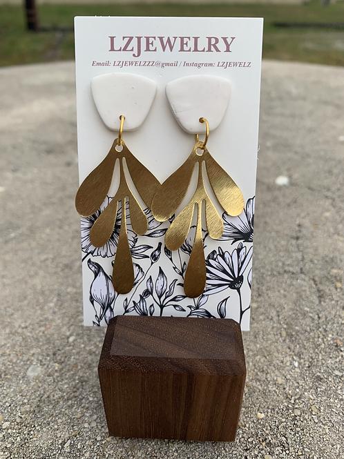 LZ Gold Leaf Earrings