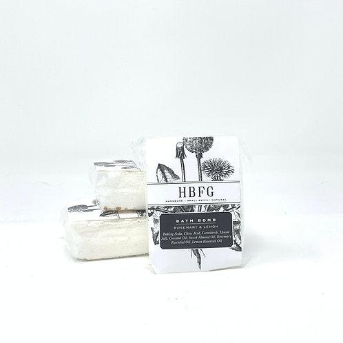 Natural Bath Bomb -Rosemary & Lemon