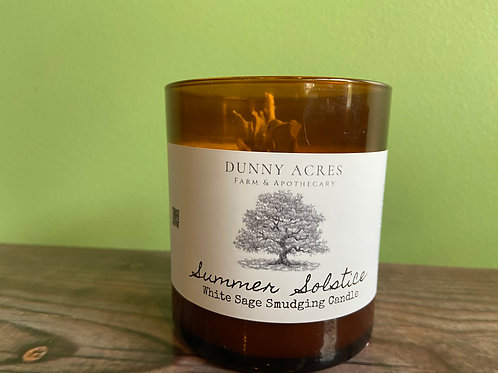 Summer Solstice White Sage Smudging Candle