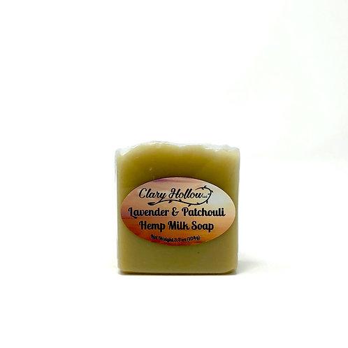Lavender & Patchouli Hemp Milk Soap - Vegan