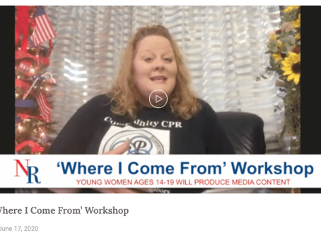 Where I Come From Workshop Opportunity