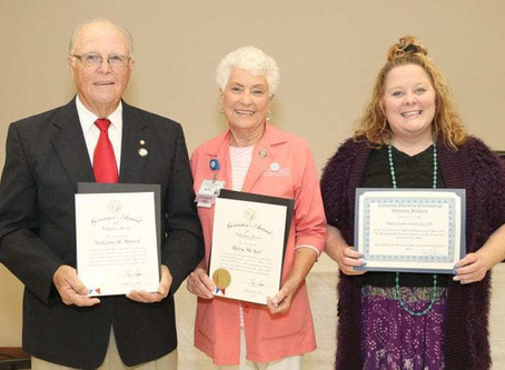 Morris, McKee and Todd recognized for volunteer service