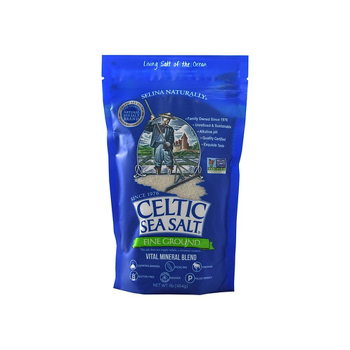 Celtic Sea Salt® Brand Fine Ground (1 lb) ~ Vital Mineral Blend