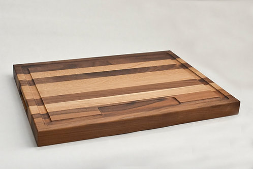"""1-1/2"""" x 15"""" x 20"""" w/ handholds & juice tray - Traditional Cutting Boards"""