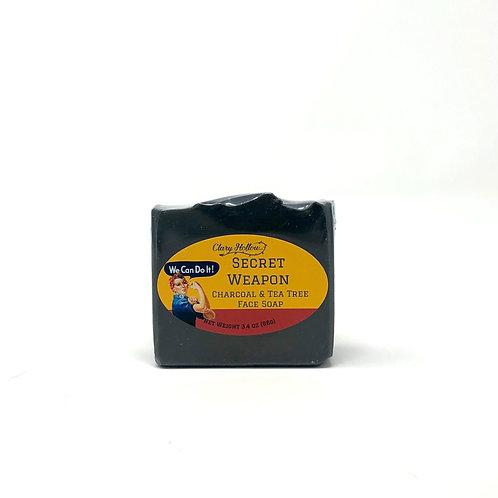 Secret Weapon Charcoal & Tea Tree Face Soap