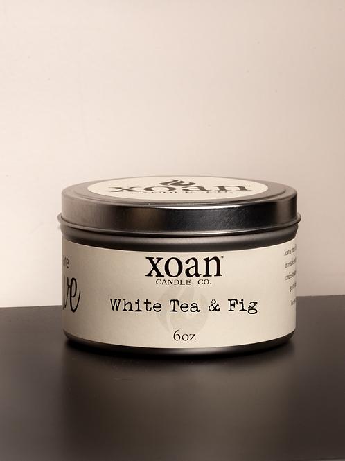Xoan Tin Candle White Tea & Fig