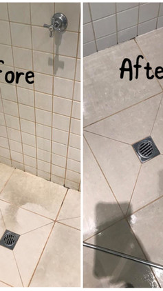 Shower Floor Cleaning