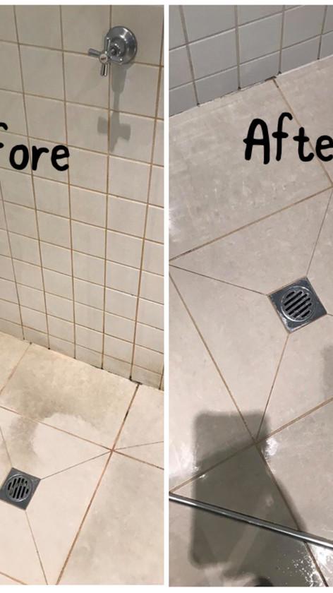 Shower Floor Cleaning