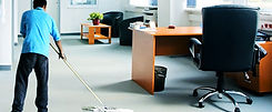 Amin Cleaning Services cleaner cleaning an office