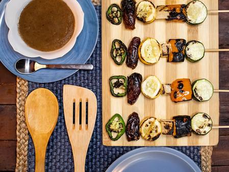 Veggie Skewers + Medjool Date Sauce